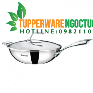 Chảo xào T Chef Series Wok Pan 30cm (nắp kính)